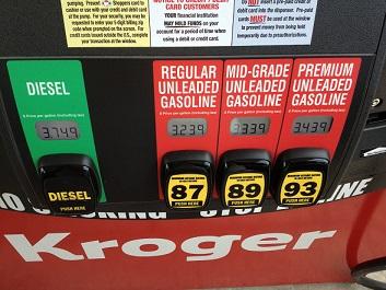 Benzine prijzen Amerika 2013